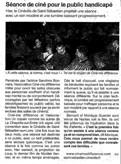 l'article de Ouest France :