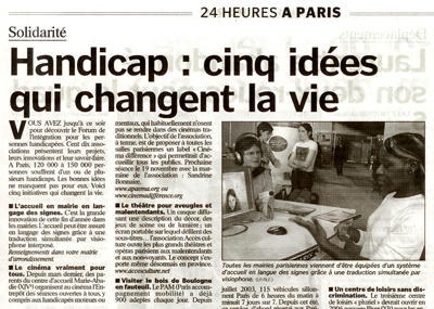l'article du parisien