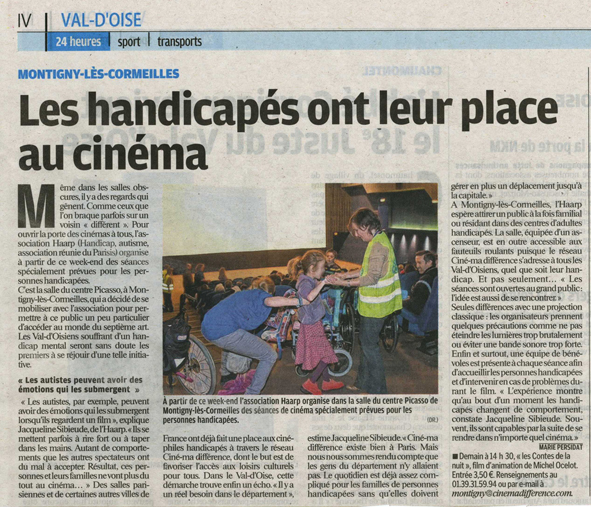 scan de l'article du parisien du 17/10/2011